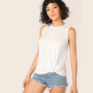 Twist Hem Muscle Top